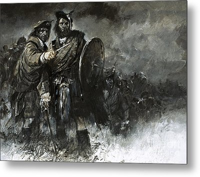 Bonnie Prince Charlie At Culloden Metal Print by Neville Dear