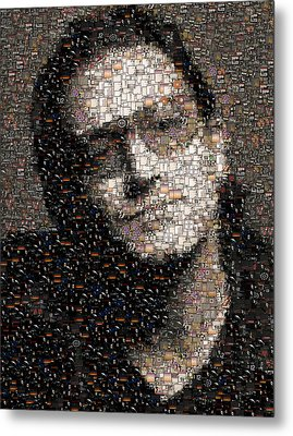Bono U2 Albums Mosaic Metal Print by Paul Van Scott