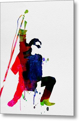 Bono Watercolor Metal Print