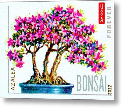 Bonsai Tree Azalea Metal Print
