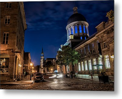 Bonsecours Market Metal Print by James Wheeler