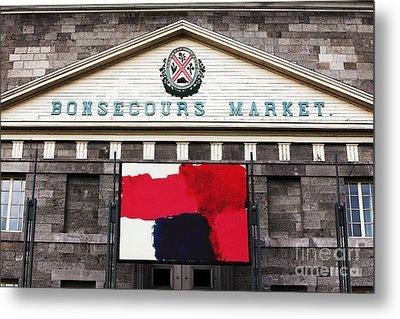 Bonsecours Market Metal Print by John Rizzuto