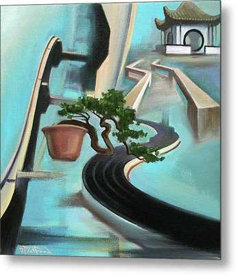 Metal Print featuring the painting Bonzai Freeways 1 by Dave Platford