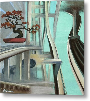 Metal Print featuring the painting Bonzai Freeways 2 by Dave Platford