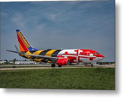 Boeing 737 Maryland Metal Print by Guy Whiteley