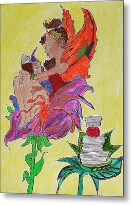 Book Fairy Metal Print