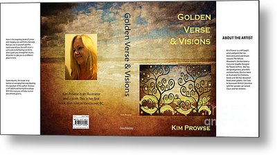 Metal Print featuring the digital art My Book Jacket by Kim Prowse