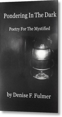 Book Pondering In The Dark Metal Print