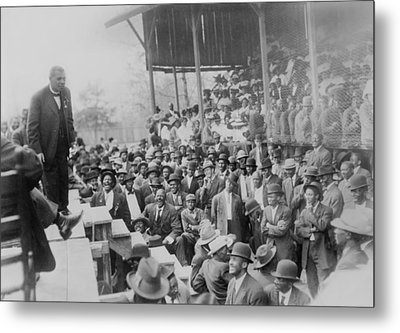 Booker T. Washington Addressing Metal Print by Everett