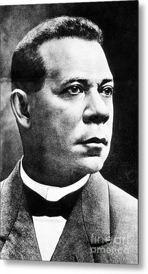 Booker T. Washington, African-american Metal Print by Photo Researchers