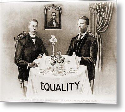 Booker T. Washington Dines Metal Print