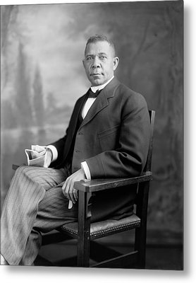 Booker T Washington Metal Print by War Is Hell Store