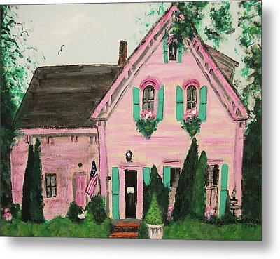 Bookstore In Cape Cod Metal Print by Suzanne  Marie Leclair