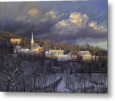 Boonton In Winter Metal Print by David Henderson