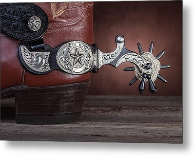 Boot Heel With Texas Spur Metal Print