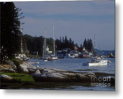 Boothbay Harbor In Maine Metal Print