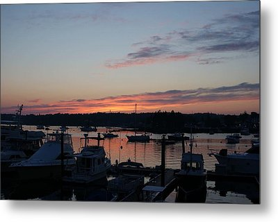 Boothbay Sunset Metal Print by Lois Lepisto