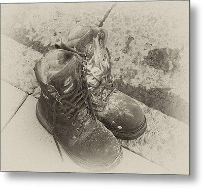 Boots Reno Metal Print by Ann Tracy