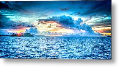 Bora Bora Sunset Metal Print