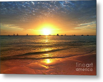 boracay,Philippians 4 Metal Print by Mark Ashkenazi