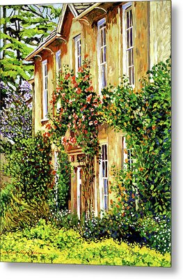 Bordeaux Garden House Metal Print