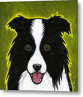 Border Collie Metal Print by Leanne Wilkes