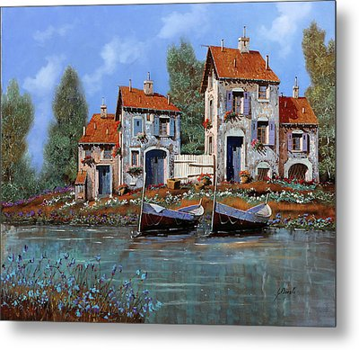 Borgo Viola Metal Print by Guido Borelli