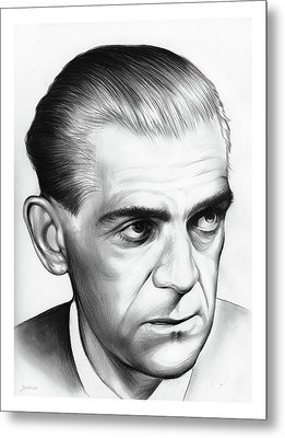 Boris Karloff Metal Print by Greg Joens