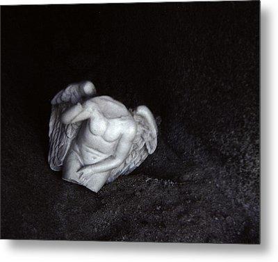 Borken Angel Metal Print by Ann Tracy