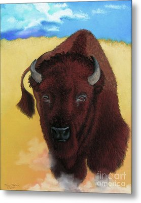 Born Of Thunder Metal Print by Tracy L Teeter