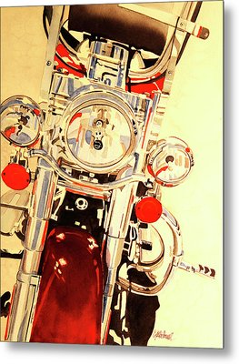 Metal Print featuring the painting Born To Be Wild by Cynthia Powell