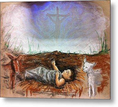 Metal Print featuring the painting Born To Die by Mike Ivey