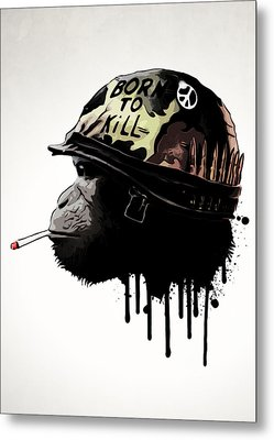 Born To Kill Metal Print by Nicklas Gustafsson