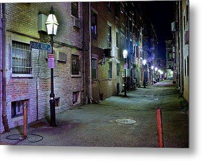 Boston Alleyway Metal Print by Frozen in Time Fine Art Photography