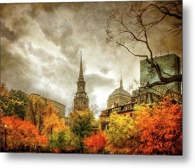 Boston Autumn Splendor Metal Print by Joann Vitali