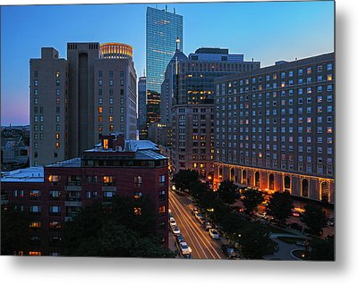 Boston Back Bay Park Plaza Hotel  Metal Print