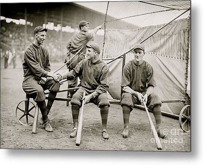 Boston Baseball Players   Gowdy, Tyler, Connolly Metal Print by American School