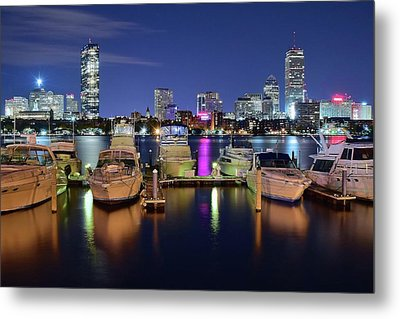 Boston Boats Metal Print by Frozen in Time Fine Art Photography