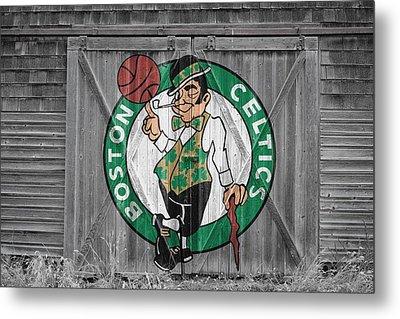 Boston Celtics Barn Doors 2 Metal Print