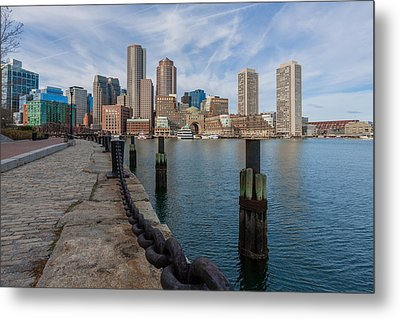 Boston Cityscape From The Seaport District 3 Metal Print by Brian MacLean