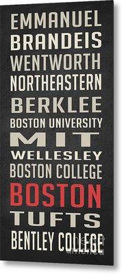 Boston Collegetown Metal Print by Edward Fielding