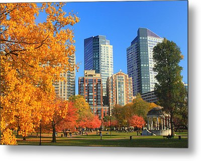 Boston Common In Autumn Metal Print