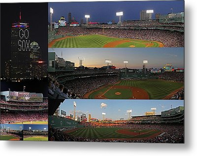 Boston Fenway Park And Red Sox Gift Ideas Metal Print by Juergen Roth