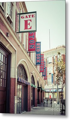 Boston Fenway Park Sign Gate E Entrance Metal Print by Paul Velgos