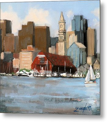 Boston Harbor Metal Print by Laura Lee Zanghetti