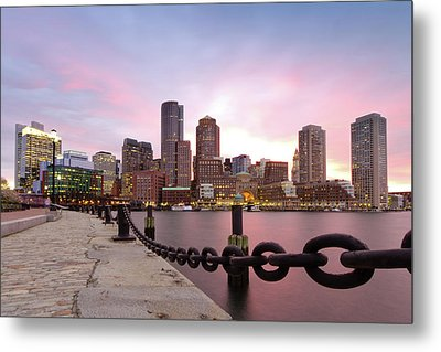 Boston Harbor Metal Print by Photo by Jim Boud