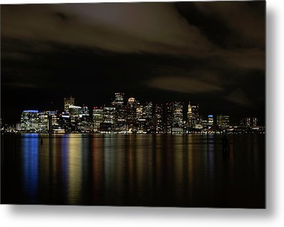Boston Harbor Skyline Metal Print