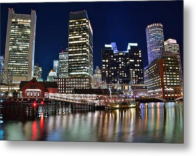 Boston Harbor Tea Party Metal Print by Frozen in Time Fine Art Photography
