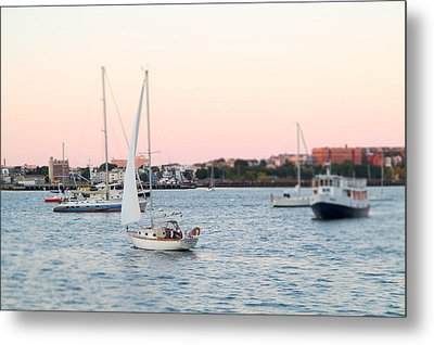 Boston Harbor View Metal Print