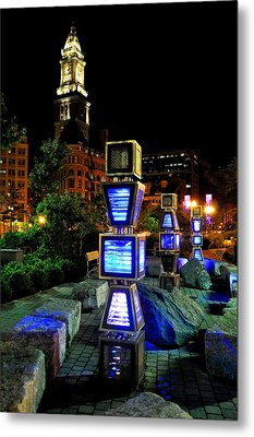Boston Jetson Lights 1 Metal Print